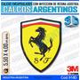 Calcomanias, Domes Resinados 3d Ferrari Guardabarro