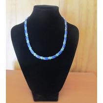 Collar Lapislazuli Y Malaquita De Plata 950