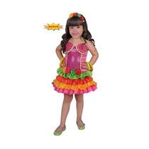 Disfraz Carnavalito Rumbera Tropical Bebe Talla 18-24