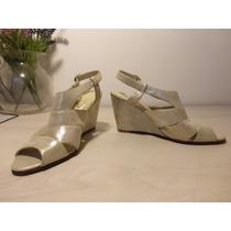 Zapato Sandalia De Fiesta Plateada Nuevo Talle 36