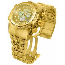 Relógio Nvicta 12738 Bolt Zeus Todo Dourado Ouro 18k Novo