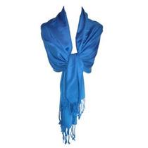 Ctmâ® Para Mujer Clásico Mantón De Pashmina Envuelve Azul Re