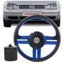 Volante Golf Sapão 2000 A 2005 Tuning Rallye C/cubo Azul