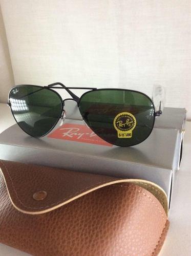 457d06c07d07d Óculos De Sol Ray Ban Top Aviador Lentes Verde . Tamanho -g - R  298 ...