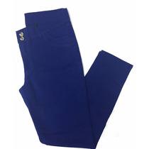 Calça Feminina Azul Sarja C/ Elastano Plus Size 44 - 1452