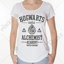 T-shirt Blusa Feminina Hogwarts Harry Potter