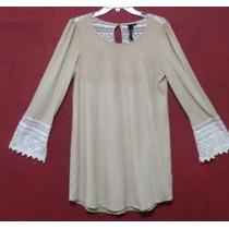 Mini Vestido Bohemio Ante Vintage T/s Camison Bluson Tunica