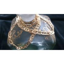 Cadena Tejido Egipcio Diamantada Oro Envio Gratis