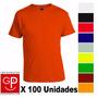 Camiseta Remera Básica X 100 Unidades Talles S Al Xxl G P