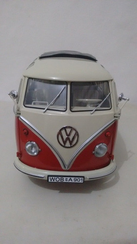 miniatura volkswagen samba bus t1 kombi 1/18 schuco - r$ 1.480,00 em
