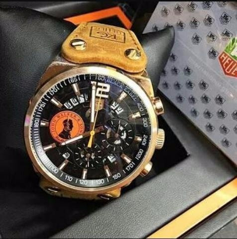 6839c158aad Relógio Masculino Tag Johnnie Walker Black Pulseira De Couro - R ...