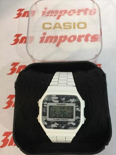 ef600610f11 Relógio Cassio Retro Vintage Branco Envio Imediato - R  120