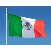 Bandera De Mexico De 1.52 X 2.43 Metros Uso Pesado Exterior