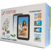 Kit Tablet Foston 796 Dual Core 3g 2-dois Chip Gps E Celular