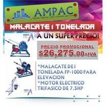 Malacate De 1 Tonelada Fp-1000 7.5hp