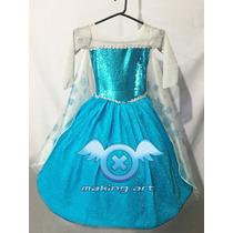Vestido Frozen Princesa Elsa - Disfraz Disney El Mas Lindo!