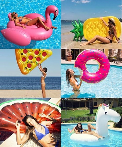 Inflables flotadores gigantes para piscinas y playa donuts - Flotadores gigantes ...
