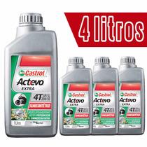 Kit 4 Litros Óleo De Motor Castrol Actevo Extra 4t 20w-50