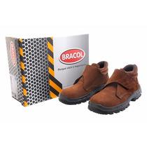Botina Nobuck Bracol Velcro Com Bico De Pvc Ca. 26706