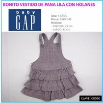 Vestido De Pana P/niña Marca Baby Gap Talla 4 Envío Gratis