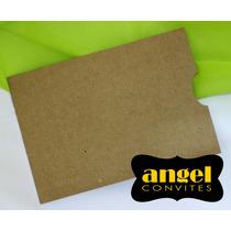 Envelope Luva 15x21 P/ Convites - Kraft - Rústico - 20pçs