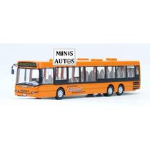 Miniatura Ônibus Scania Omnilink Cararama Escala 1/50