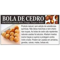 Bolas De Cedro Anti Traças Mofo Bolor Umid 02 Pcts