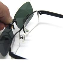 Clip On De Sobrepor Óculos De Grau - Proteção Uv400 -verde