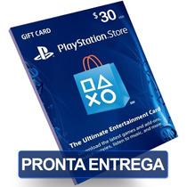 Card $30 Dólares Psn Us Cartão Playstation Network