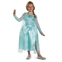 Vestido Disfraz Niña Elsa Frozen Original Disney