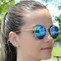 5a9c71d418ebd Oculos Rayban Round Dobravel Azul rosa Redondo Espelhado - R  350,00 ...