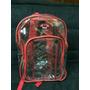 Morral Escolar Grande Transparente Rojo Azul Negro Air Xpres