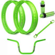 Kit Viper Aros Motard + Acessórios Fan 2004 A 2013 - Verde