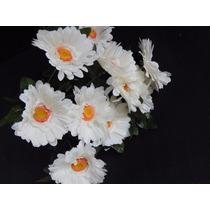 Buque Gerbera C/12 Flores Artificiais 40cm - Consulte Frete