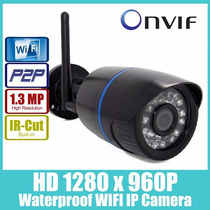 Camera Ip Externa Wifi Infra 1.3 Mega 1280p Hd P2p