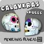 Calaca Dia De Los Muertos / Calaveras Mexicana Yeso / Craneo