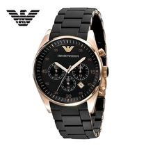 Relógio Emporio Armani Ar5905 Preto Rosé 100% Original
