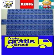 Kit 5 Borrachas Novas Korg Pa-50 / Pa-50sd Frete Grátis