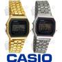 Reloj Casio Metalico Retro Vintage Dorado Y Plateado, Unise