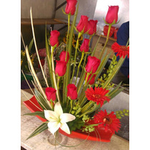 Arreglo Con Rosas -flores Máxima Calidad