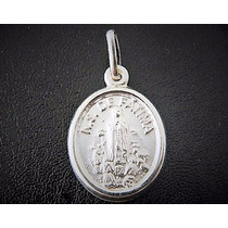 Medalha - Nossa Senhora De Fátima, Prata 925 Design Italiano