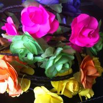 Corona De Flores De Papel Para Lucir En El Cabello