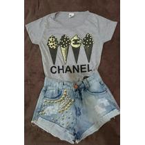 T-shirts Blusas Tamanho Gg Baby Look