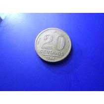 Moeda 20 Centavos Getulio Vargas Com Sigla 1944