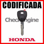 Copia Llave Honda Accord Civic Cr-v Crv Chip Codificada