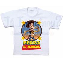 Camisa Toy Story Aniversário Blusa Camiseta Woody