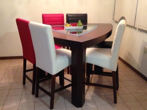 Oferta comedor moderno 6 sillas 20 en mercado libre - Comedores altos modernos ...