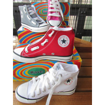 Botita Zapatilla Lona Varios Colores Tipo All Stars Converse