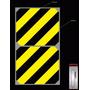 Etiqueta Adesiva Zebrada Demarcação Área Maquina Perigo