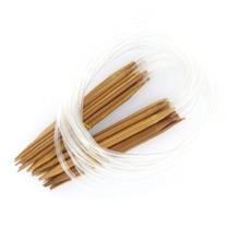 Set 16 Piezas Agujas De Bambú Circulares Para Tejer